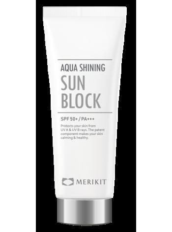 Merikit Aqua Shining Sun Block - Солнцезащитный крем SPF 50 / PA + + +
