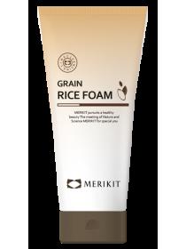 Рисовая пенка для умывания - Merikit Grain Rice Foam