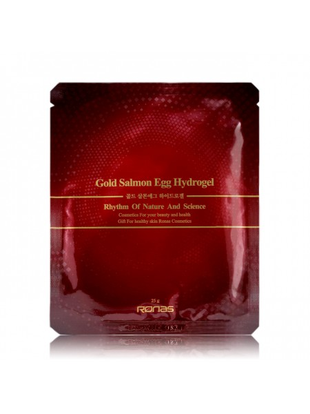 Гидрогелевая маска с золотом - Ronas Gold Salmon Egg Hydrogel Mask